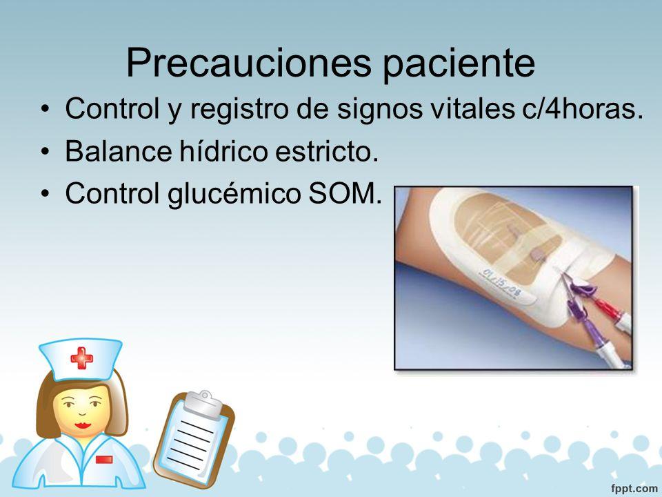 Precauciones paciente Higiene bucal con cepillado dental o con antiséptico.