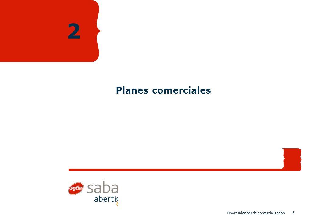 5 Oportunidades de comercialización Planes comerciales 2