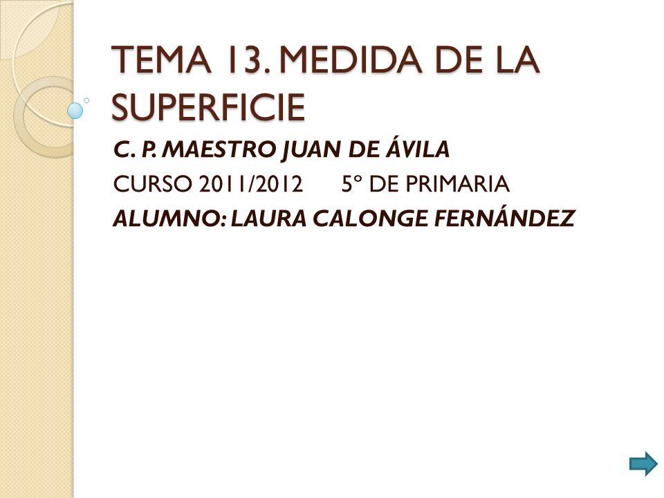 TEMA 13. MEDIDA DE LA SUPERFICIE C. P.