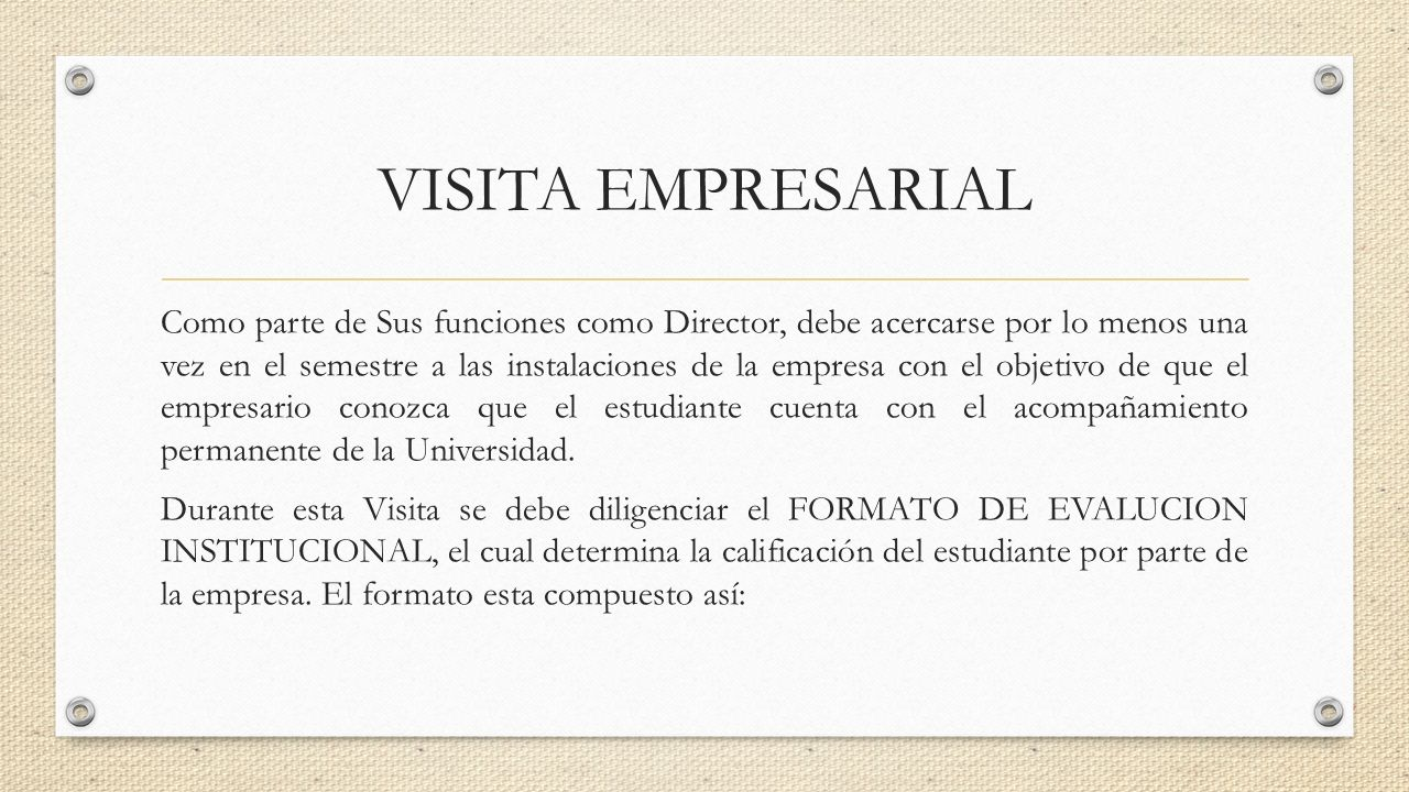 MANUAL DEL DIRECTOR DE PASANTIA PROGRAMA DE ADMINISTRACION DE ...