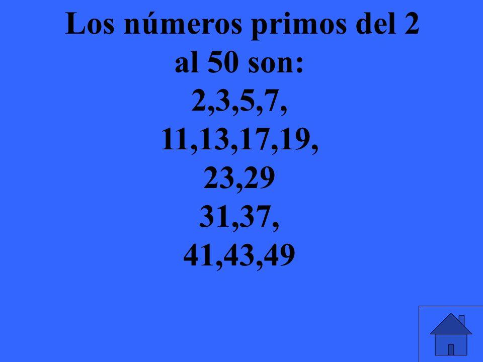 Como se llaman los números que no son números primos?