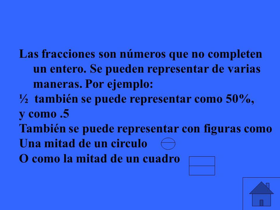 Cuando tenemos una fracción como 3/9 y la queremos dividir, cual numero va dentro de la casita?