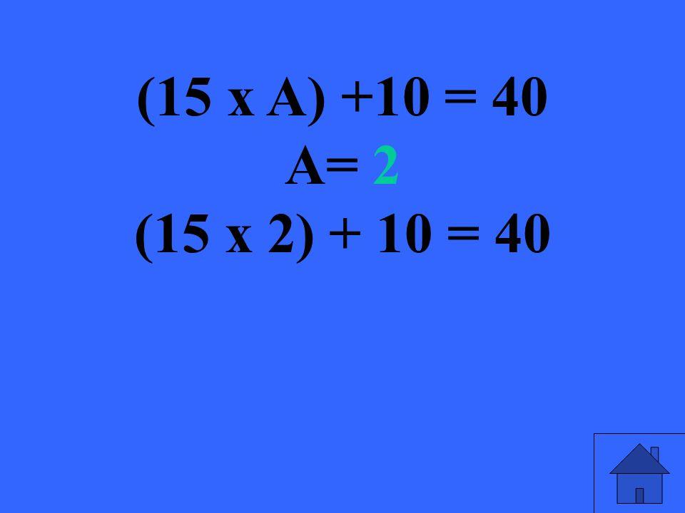 Resuelve (10 x N) + N = 66 N= ?