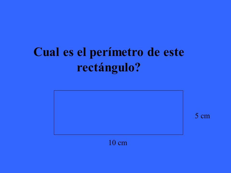El perímetro de este rectángulo es 30 cm.
