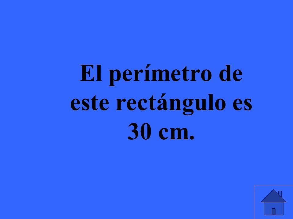 ¿Cuál es el área de este rectángulo? 8 cm 6 cm