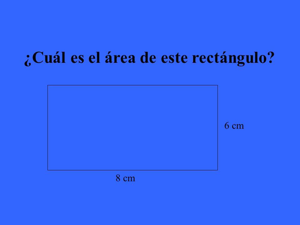 El área de este rectángulo es 48 cm²