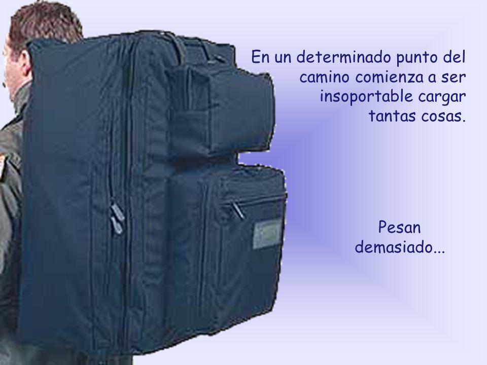 Cuando tu vida empieza, tienes apenas una maleta pequeña de mano.