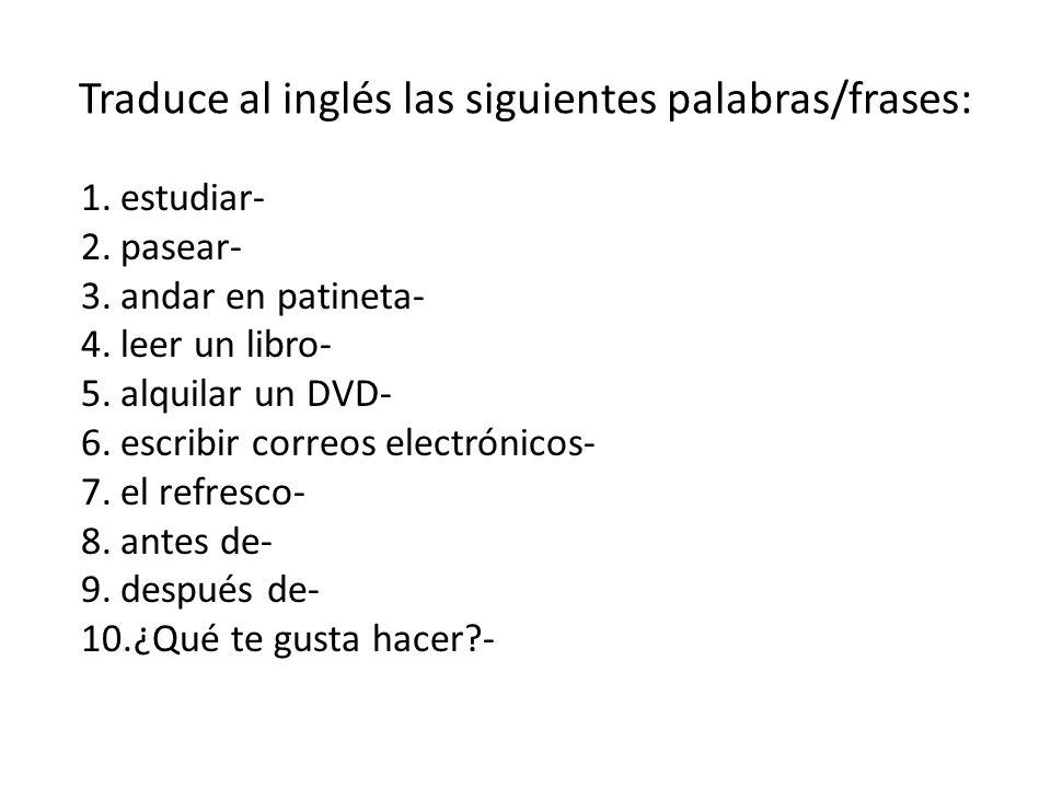 Patineta En Ingles