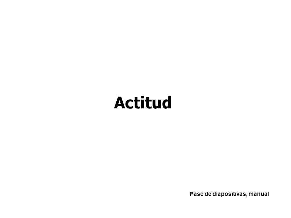 Pase de diapositivas, manual