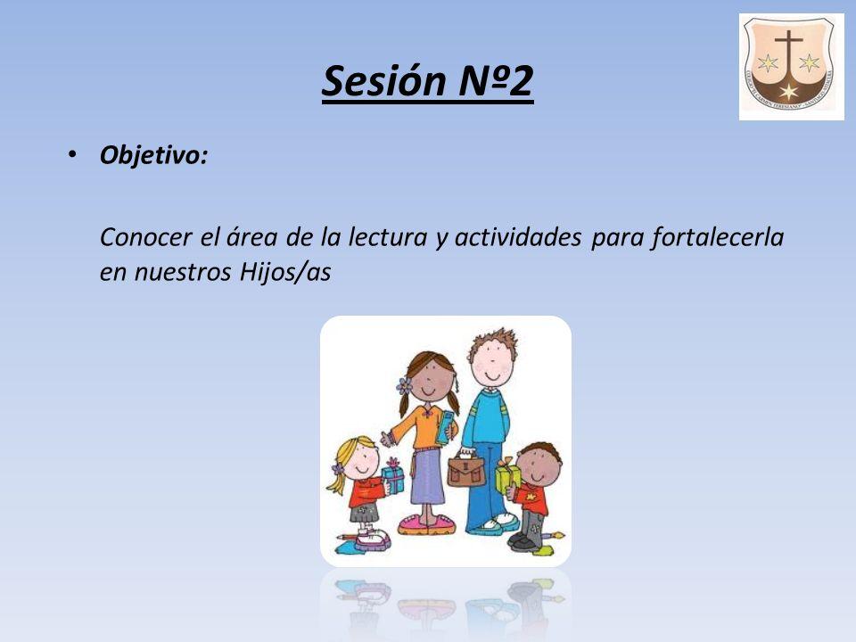 Sesión Nº2 Objetivo: Conocer el área de la lectura y actividades para fortalecerla en nuestros Hijos/as