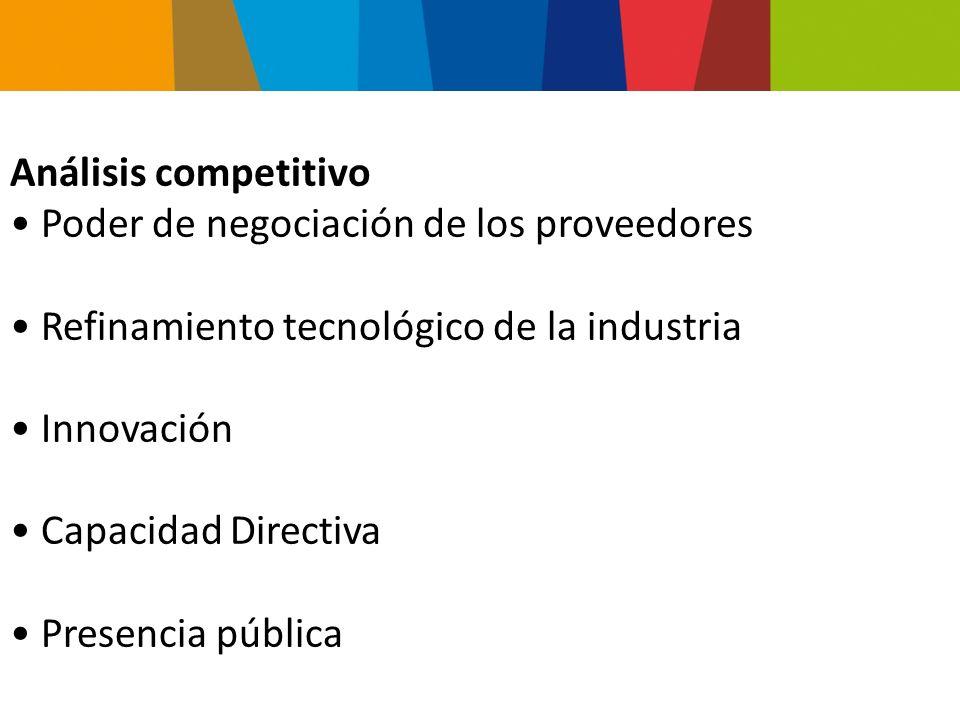 El concepto de grupos estratégicos Implicancias Modelos estáticos Estructura de la industria y diferencias de la empresa Evolución de la Industria Globalización Análisis del sector industrial