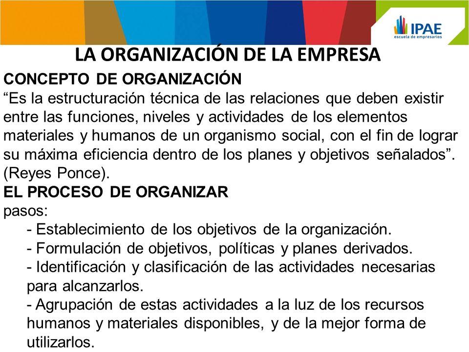 - Delegación al Jefe de cada equipo, de la autoridad necesaria para ejecutar las actividades.