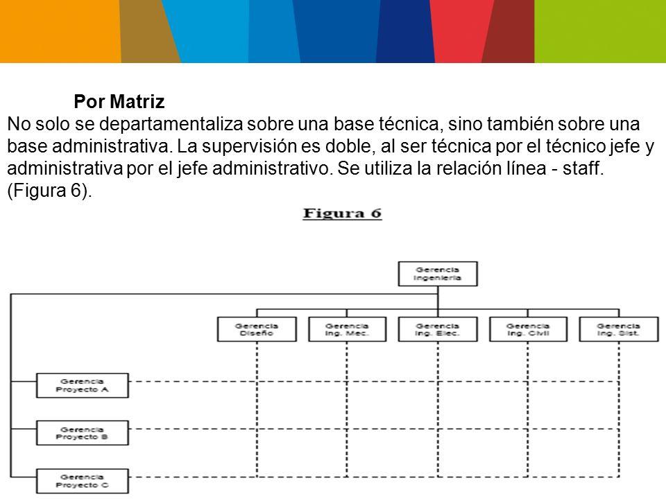 Ventajas: Orientación hacia resultados finales.Se mantiene la identificación profesional.