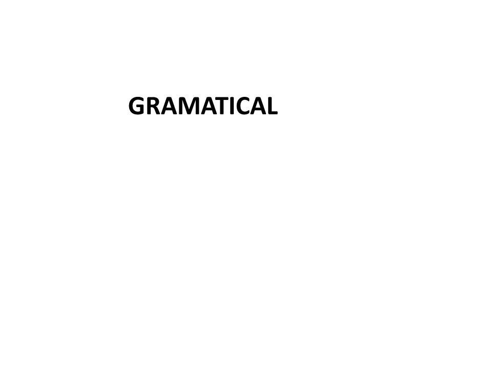 GRAMATICAL