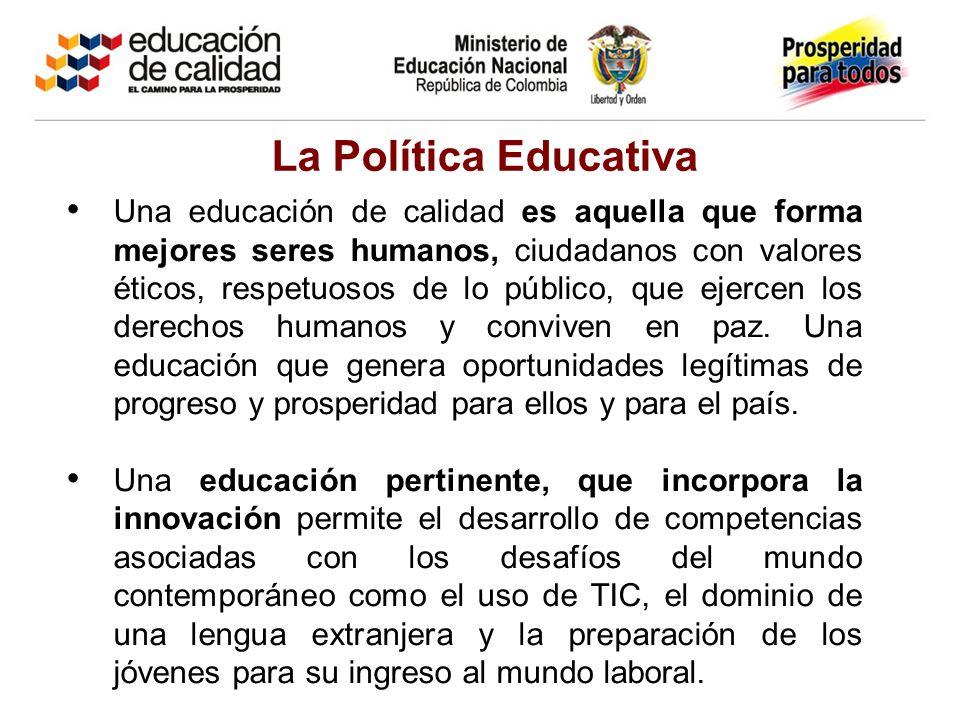 Una educación de calidad es aquella que forma mejores seres humanos, ciudadanos con valores éticos, respetuosos de lo público, que ejercen los derechos humanos y conviven en paz.