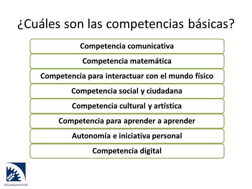 ¿Cuáles son las competencias básicas.