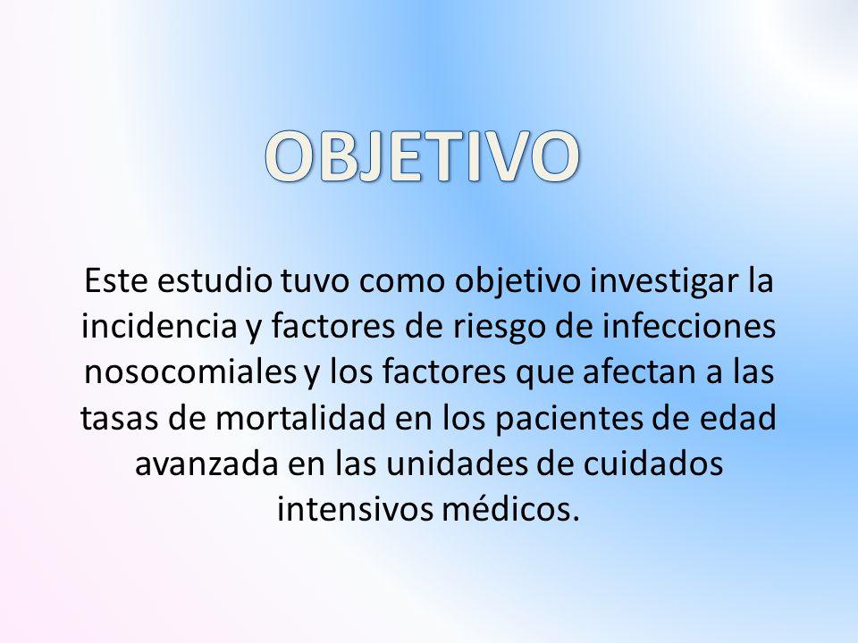 Este estudio tuvo como objetivo investigar la incidencia y factores de riesgo de infecciones nosocomiales y los factores que afectan a las tasas de mortalidad en los pacientes de edad avanzada en las unidades de cuidados intensivos médicos.