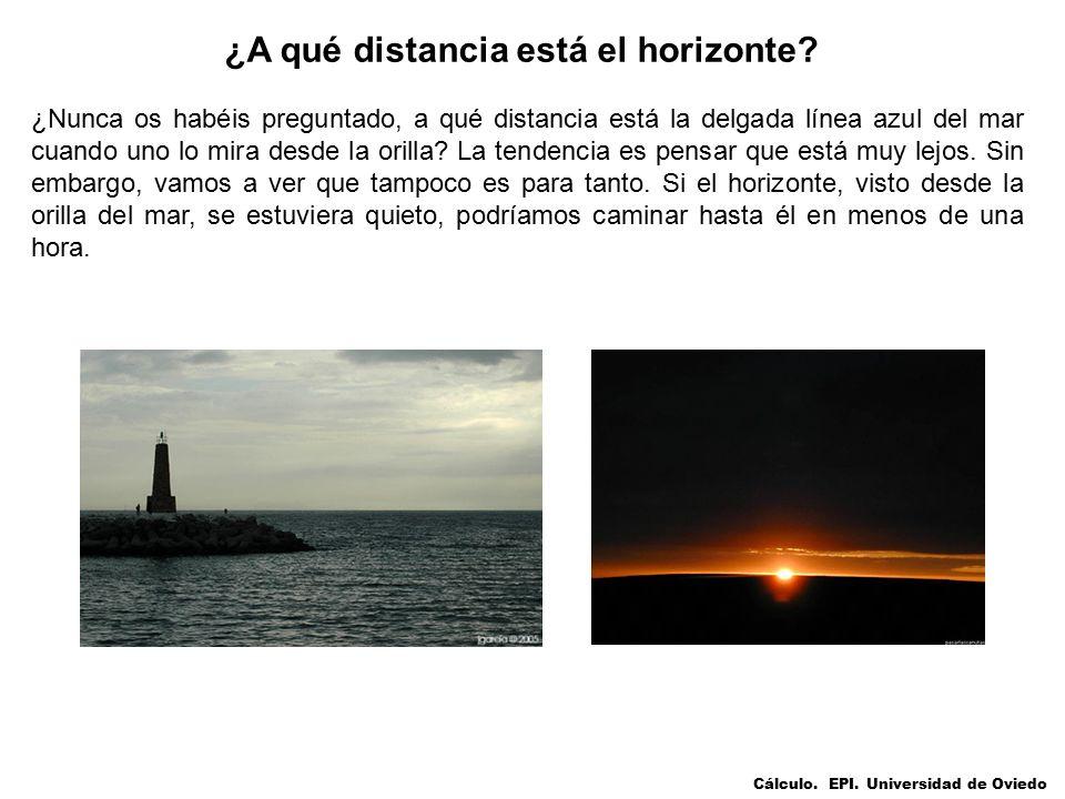 ¿A qué distancia está el horizonte.