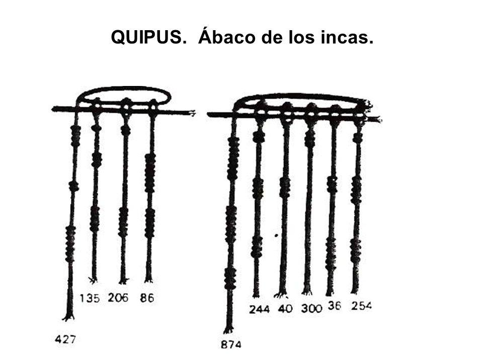 QUIPUS. Ábaco de los incas.