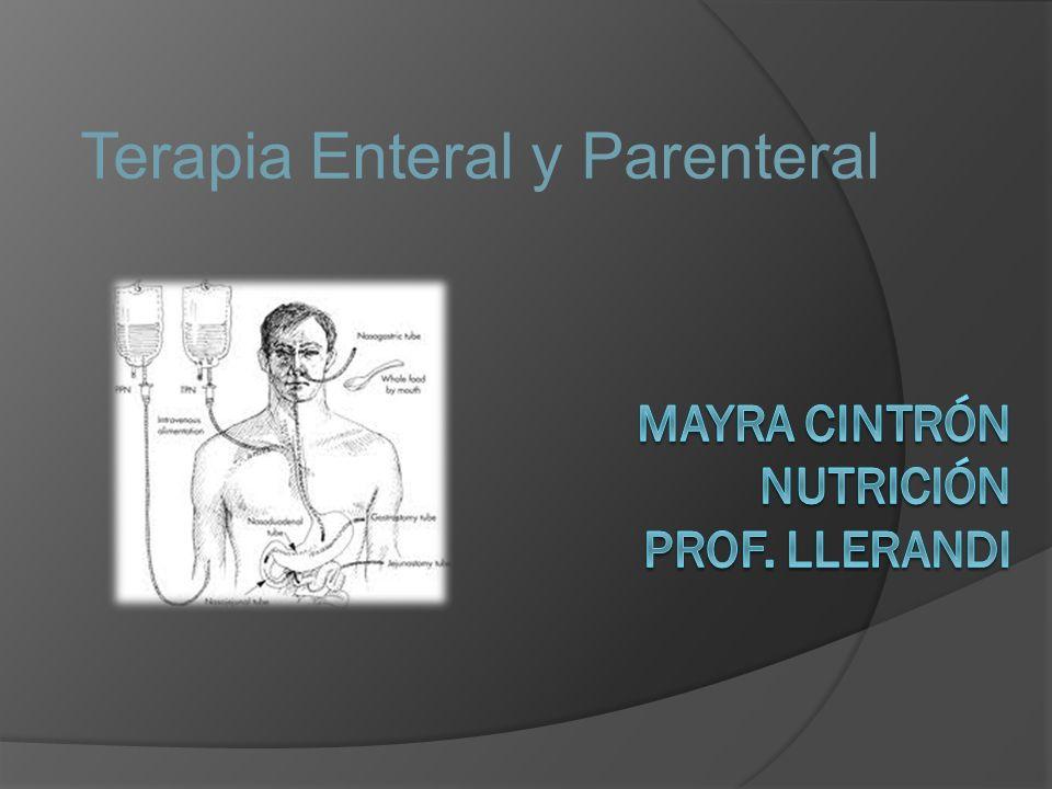Terapia Enteral y Parenteral