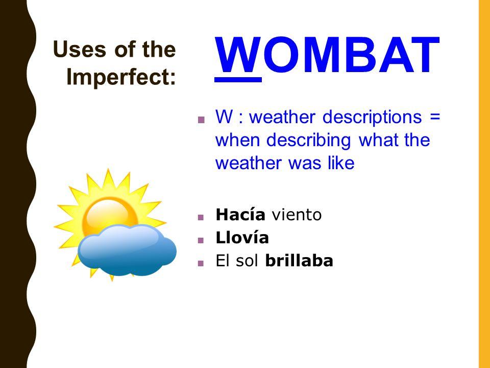 describing the weather