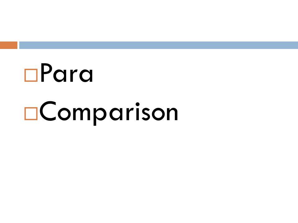  Para  Comparison