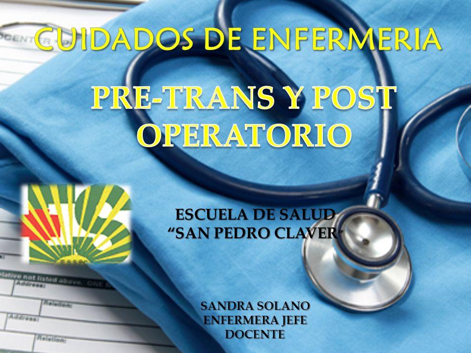 PROBLEMAS Y MOLESTIAS POSTOPERATORIAS QUE REQUIEREN CUIDADOS DE ENFERMERÍA El paciente presenta una seria de molestias y problemas de diversa entidad, que pueden ser aliviados por el tratamiento médico y los cuidados de enfermería adecuados.