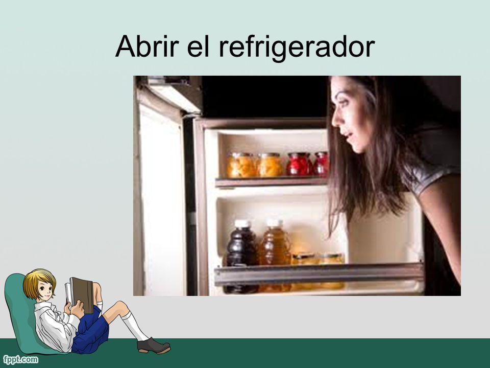 Abrir el refrigerador