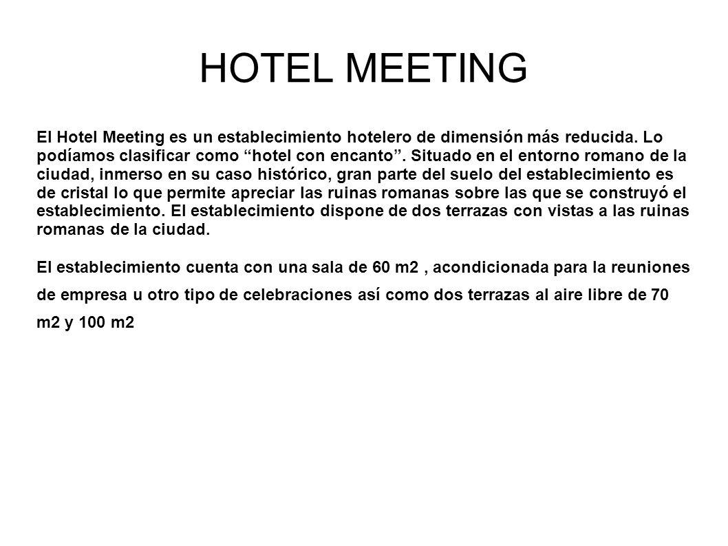 HOTEL MEETING El Hotel Meeting es un establecimiento hotelero de dimensión más reducida.