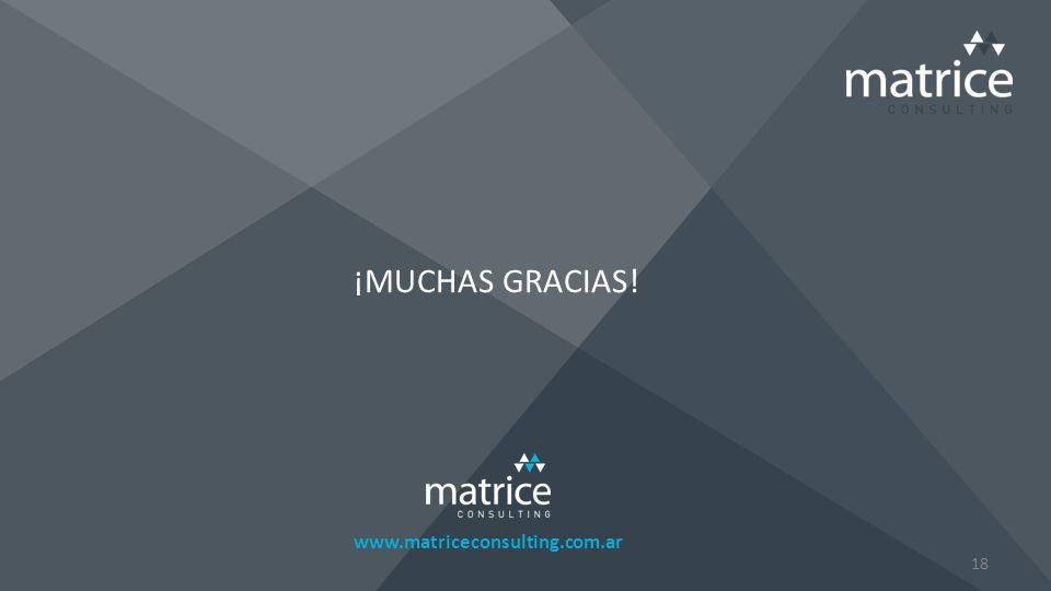 www.matriceconsulting.com.ar ¡MUCHAS GRACIAS! 18