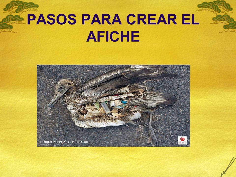 PASOS PARA CREAR EL AFICHE