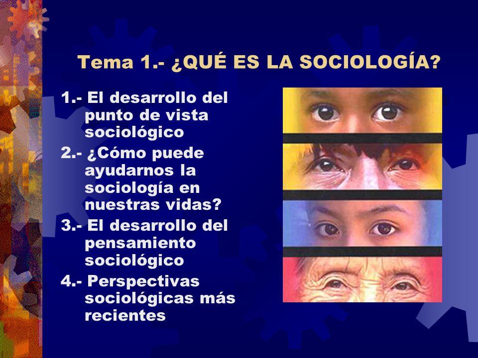 Tema 1.- ¿QUÉ ES LA SOCIOLOGÍA.