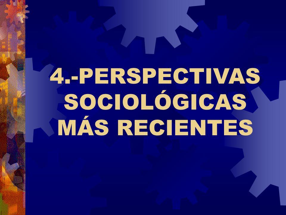 4.-PERSPECTIVAS SOCIOLÓGICAS MÁS RECIENTES