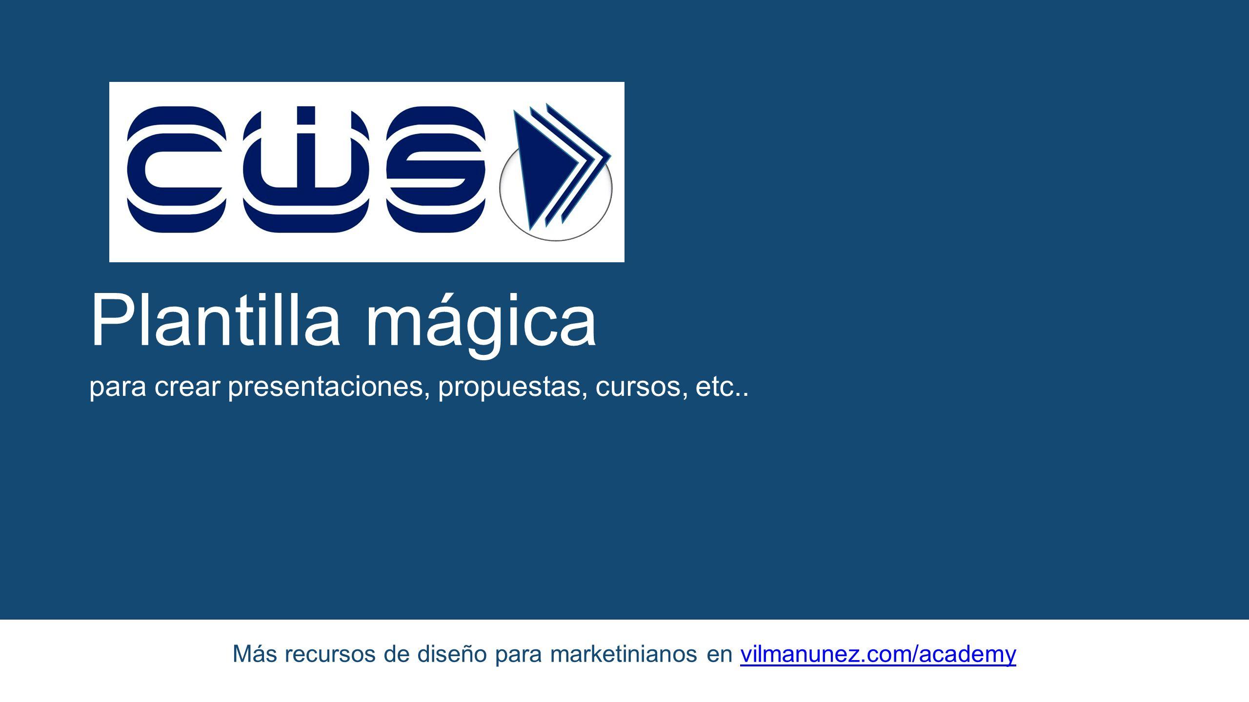 Plantilla mágica para crear presentaciones, propuestas, cursos ...
