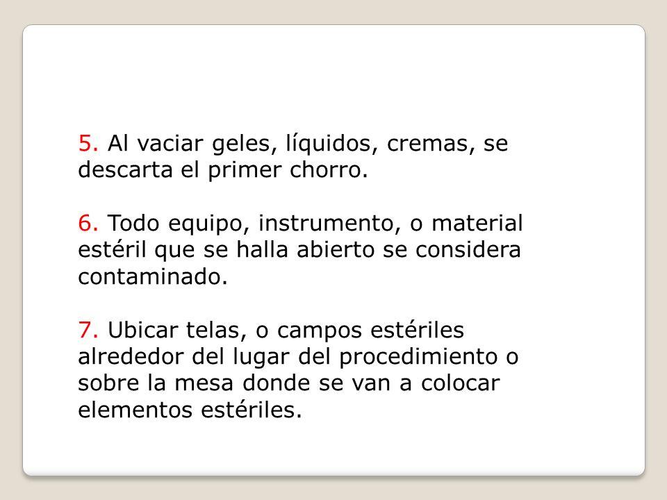 PRINCIPIOS BASICOS DE LA ASEPSIA QUIRURGICA 1.El personal estéril sólo manipula equipos estériles.