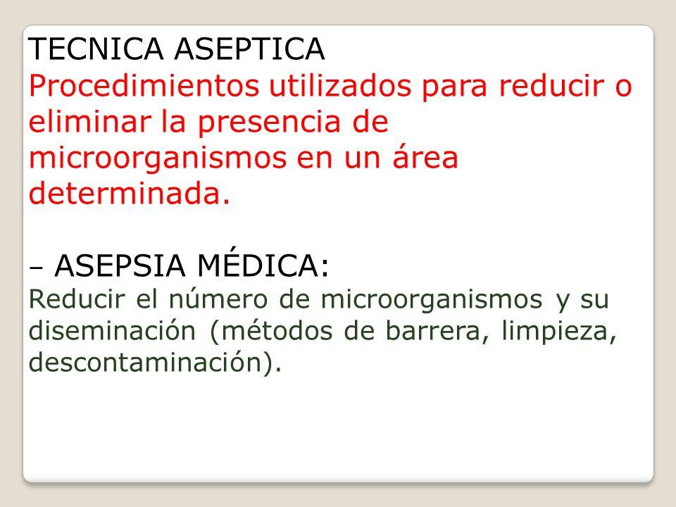 CLASIFICACION DE LA ASEPSIA MEDICA QUIRURGIC A LIMPIO SUCIO NO ESTERIL ESTERIL
