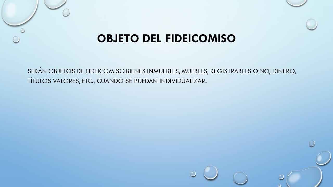 Fideicomiso Lat N Fideicommissum A Su Vez De Fides Fe Y  # Muebles Registrables