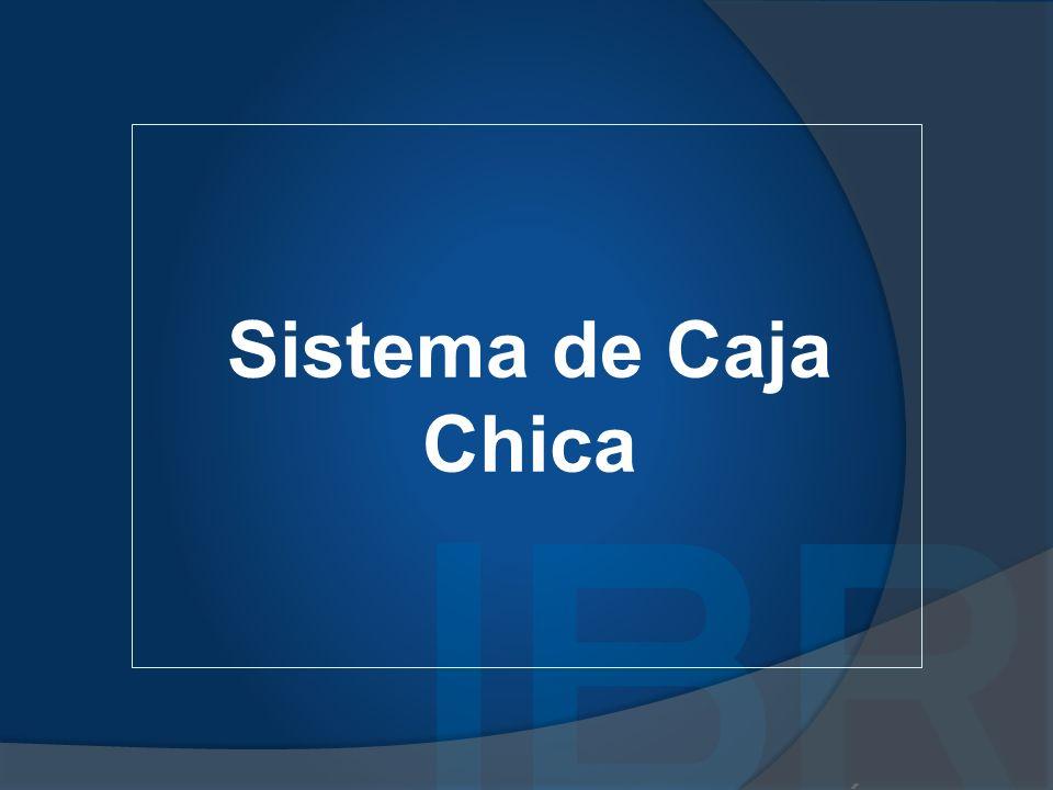 Principios para administrar Caja Chica Todo egreso de fondos debe tener su comprobante Por razones de seguridad, para la emisión de los cheques debe requerirse siempre la firma de dos personas autorizadas.