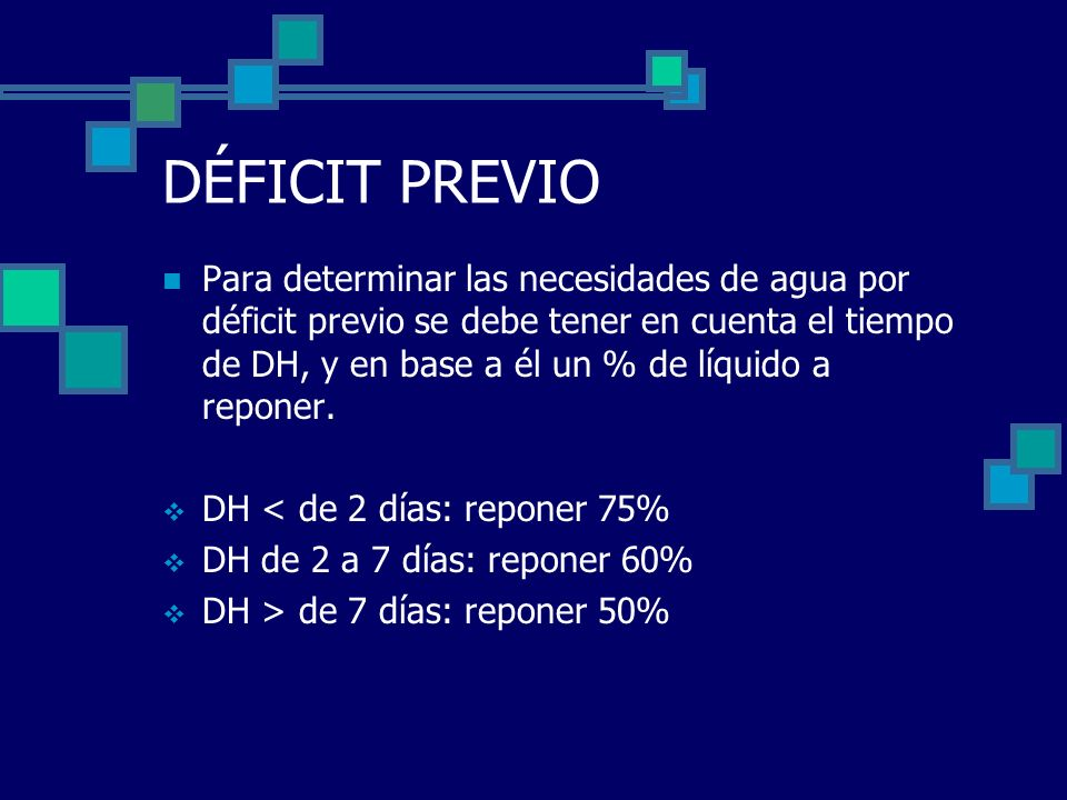 B) ELECTROLITOS La cantidad de electrolitos (Na, Cl y K) aportados en la solución dependerá de: Si se debe rehidratar al paciente o solo mantenerlo, es decir hidratarlo.