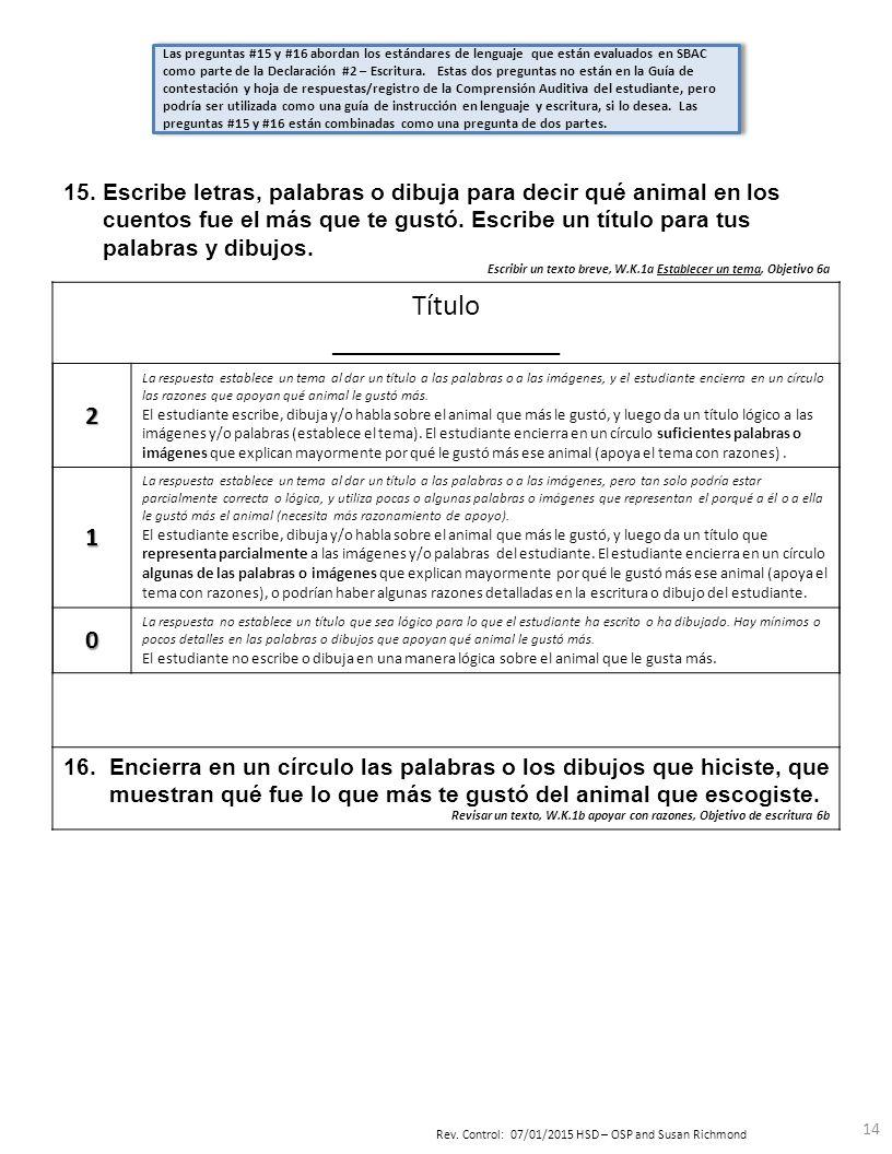 Pre-evaluación Trimestre 4 Instrucciones del maestro Lectura 12 ...