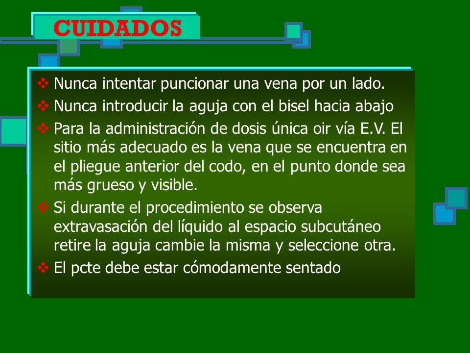 VENOCLISIS OBJETIVOS Es la administración de grandes cantidades de líquidos gota a gota por vía parenteral a través de la punción de una vena.