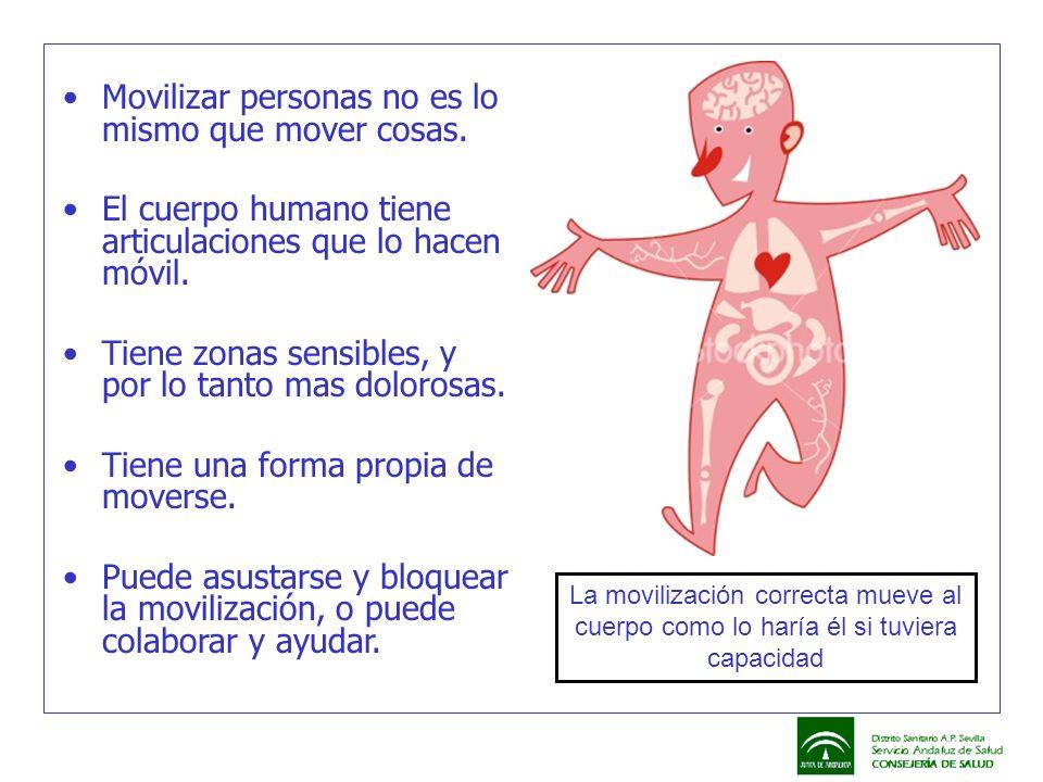 Movilizar personas no es lo mismo que mover cosas. El cuerpo humano tiene articulaciones que lo hacen móvil. Tiene zonas sensibles, y por lo tanto mas