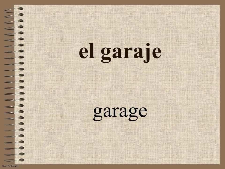 Sra. Schwarz el garaje garage