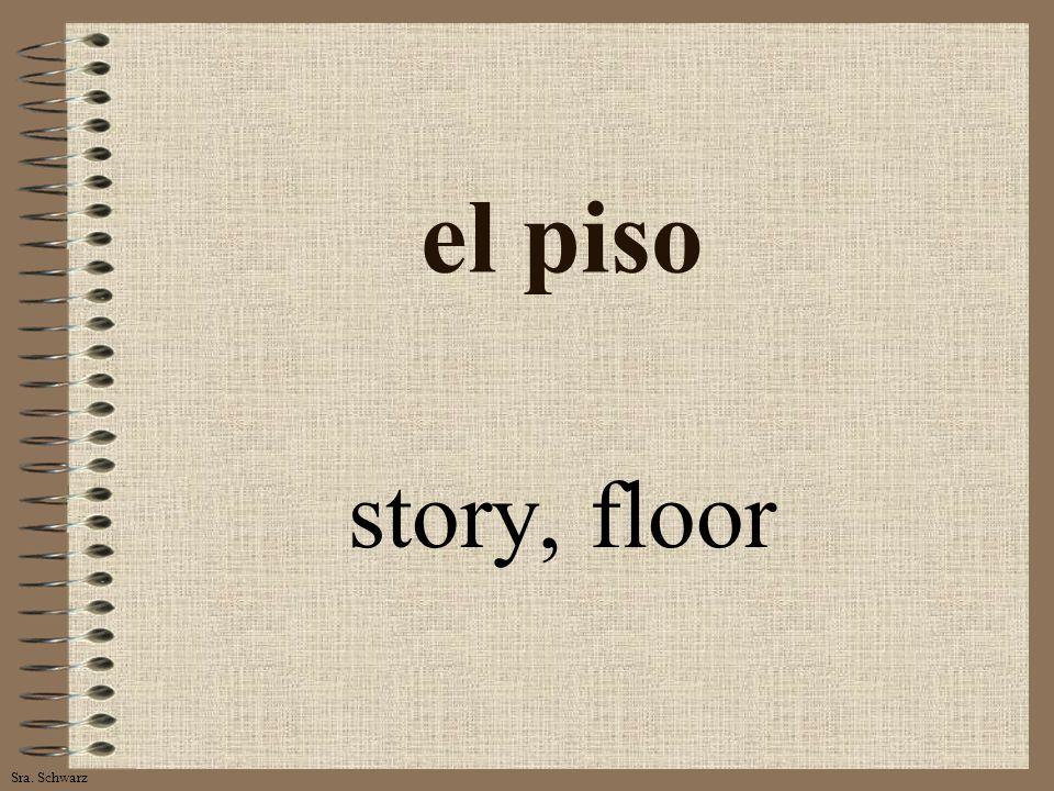 Sra. Schwarz el piso story, floor