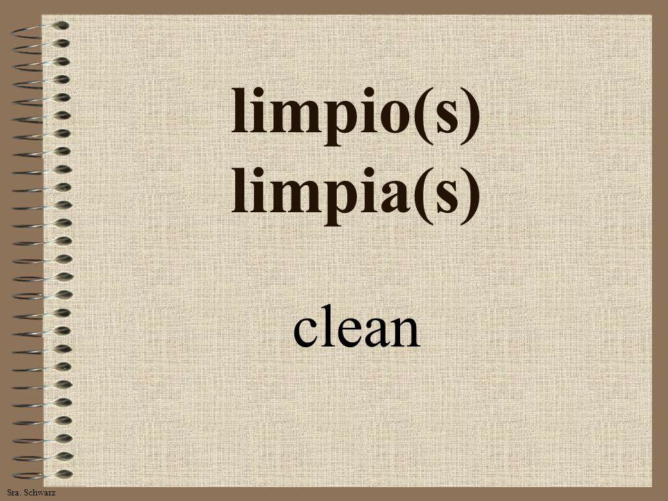 Sra. Schwarz limpio(s) limpia(s) clean