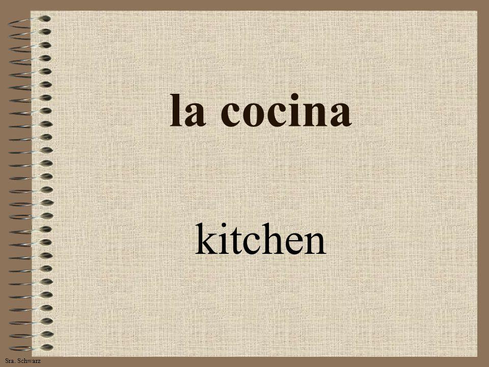 Sra. Schwarz la cocina kitchen