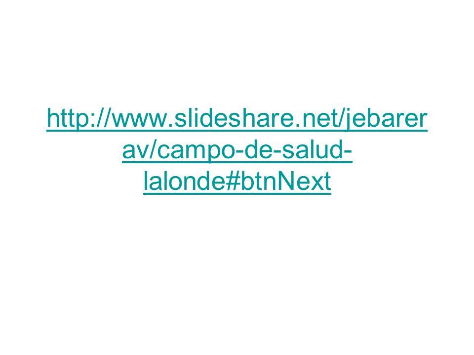 http://www.slideshare.net/jebarer av/campo-de-salud- lalonde#btnNext