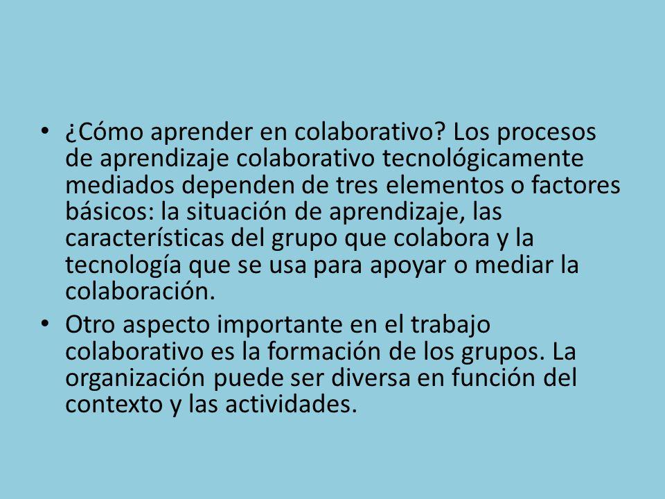 ¿Cómo aprender en colaborativo.