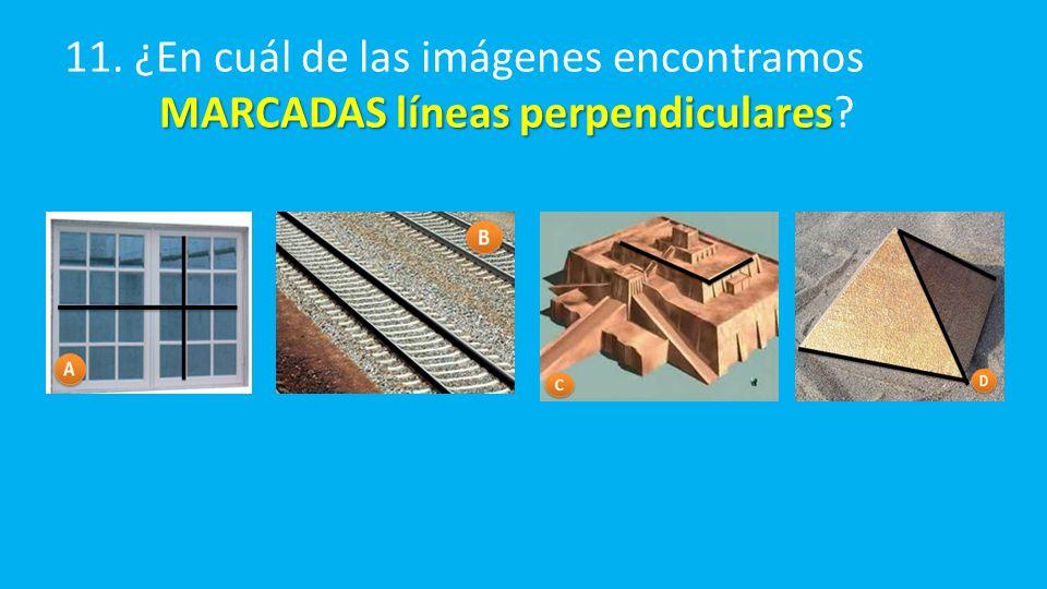 MARCADAS líneas perpendiculares 11.