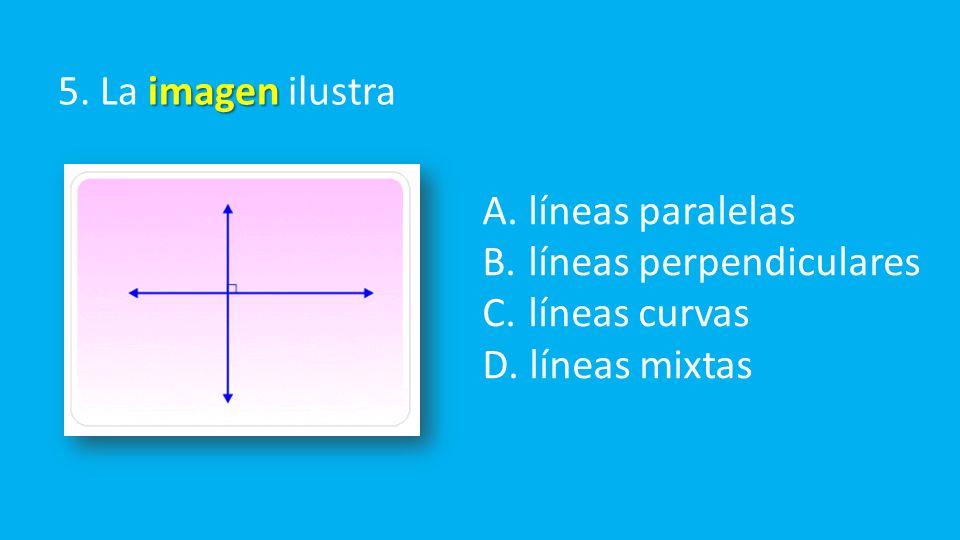 imagen 5. La imagen ilustra A. líneas paralelas B.